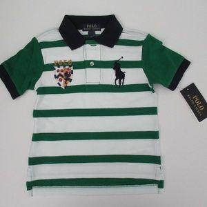 Ralph Lauren SS Striped Big Pony Polo Shirt NEW